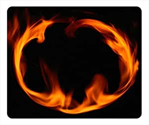 Raging Flames Personalized Design Rectangular Mouse Pad Circle