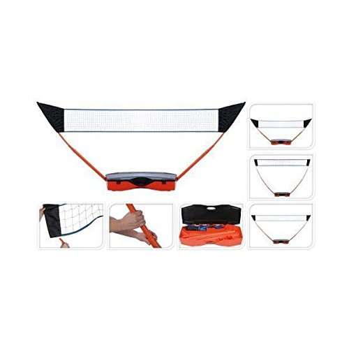 XQ Max Multi Sports Portable Pop Up Post Net Garden Set - 3 Nets for Volleyball, Tennis, Badminton