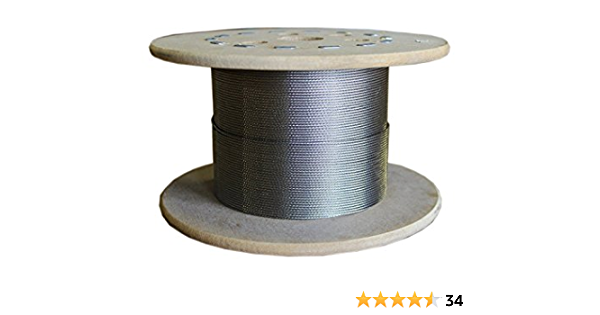4 clips SET 20m steel wire rope galvanised 8mm strand: 6x19 many sizes avaliable 2 thimbles