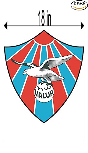fan products of Valur Reyikjavik Iceland Soccer Football Club FC 2 Stickers Car Bumper Window Sticker Decal Huge 18 inches