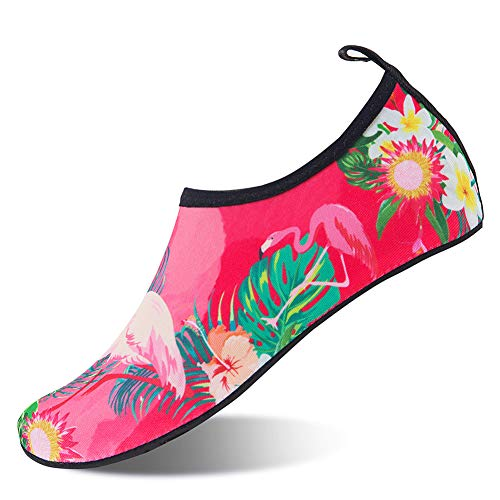 Water Yoga Socks On for Quick Barefoot Surf Bird Beach Shoes Men Dry Swim Pink Women Aqua HMIYA Slip 8qA4w8d