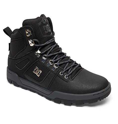 para Hombre Clasicas DC GREY Shoes Spartan DK BLACK Botas Boot WR High BLACK YS08wqSx