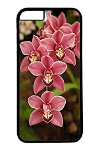 iPhone 6 Plus Case, Customized Slim Protective Hard PC Black Case Cover for Apple iPhone 6 Plus(5.5 inch)- Flower04