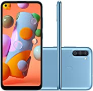 "Smartphone Samsung A11 Azul 64GB Android 10 Tela 6.4"" Camera"