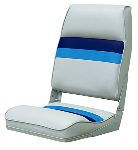 Wise Fold-Down Seat (Gray/Navy/Blue) (Fold Down Boat Seat)