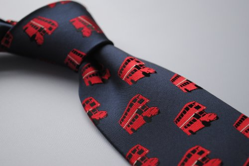 to Frederick rear navy red pattern design with signature tie floral pattern and bus Thomas london 66Rqr5wOx