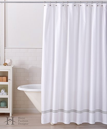 white and grey shower curtain - 6