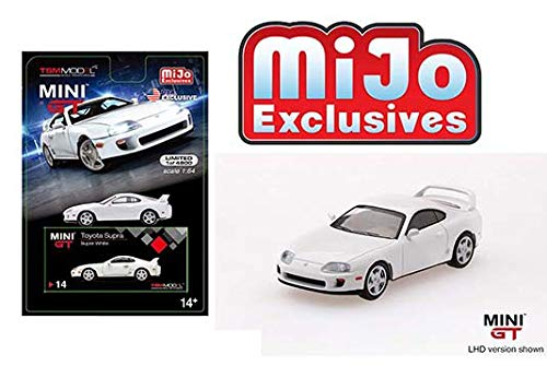 Mini GT New DIECAST Toys CAR 1:64 Toyota Supra ( JZA80) White Left Hand Drive MIJO Exclusives Limited 4,800 PCS MGT00014-MJ