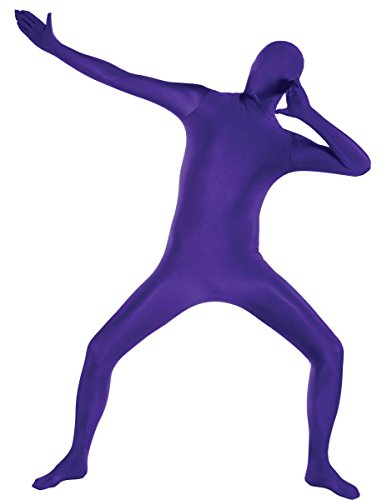 Amscan Teen Party Skin Suit Halloween Costume (Purple, Small) -