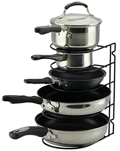 Pan Rack Organizer for Kitchen, Countertop, Cabinet and Pantry