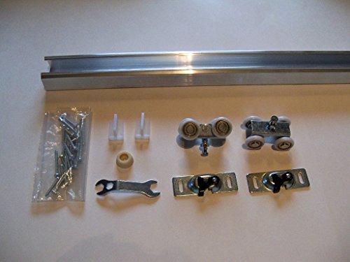 Plated Hanger Pocket Door Hardware (Series 1 HBP- Heavy Duty Pocket Door Track and Hardware (60