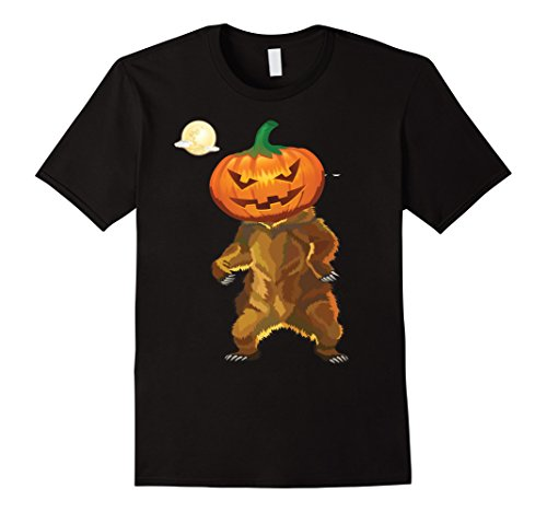 Mens Jack O Lantern Mask Bear Costume Halloween T-shirt 2XL (Boo Boo Bear Costume)
