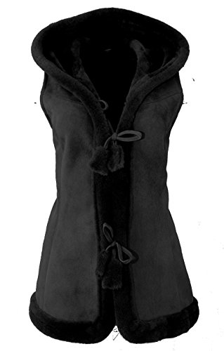 DX-Exclusive Wear Womens Suede Sheepskin Vest, Lambskin Vest/Leather gilet/KK-0005 (XXL, - Vest Lambskin Ladies Leather