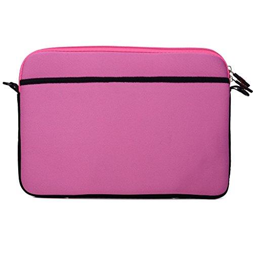 Kroo Tablet/Laptop Hülle Sleeve Case mit Schultergurt für MaxWest Orbit 10QC rot rot rose