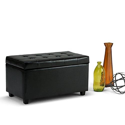 Simpli Home Storage Ottoman - Black