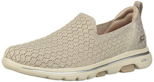 (Skechers Women's GO Walk 5-Brave Sneaker, Taupe, 10 M US)