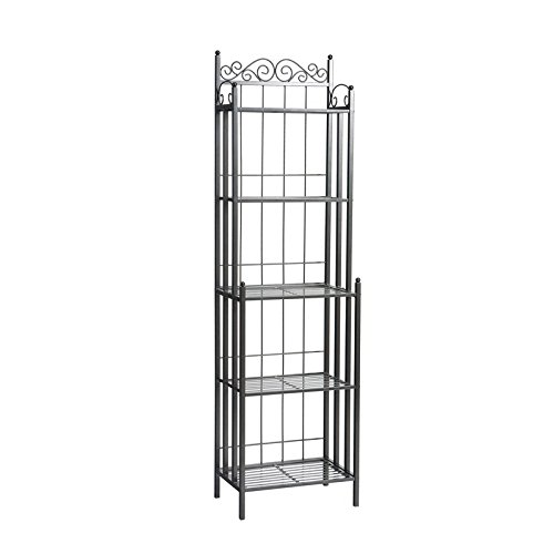 Kitchen and Dining Furniture, Baker's Rack with Five Spacious Shelves, Durable Construction, Classic Design
