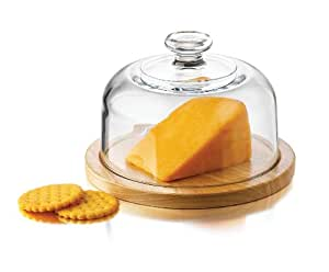 Libbey Moderno Cheese Dome, 2-Piece Set in Gift Box