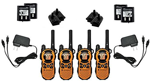 Motorola MT350R FRS Weatherproof Two-Way - 35 Mile Radio 4 Pack - Orange by Motorola