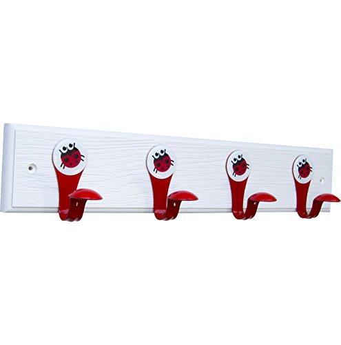 SmartHook KIDZ Hook Rail (Ladybug) Ladybug Hooks