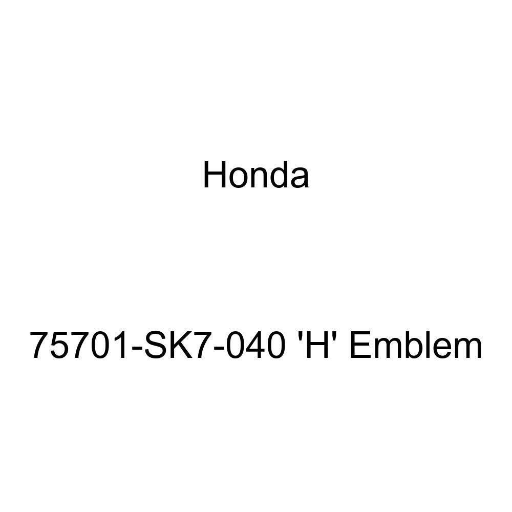 Genuine Honda 75701-SK7-040 H Emblem
