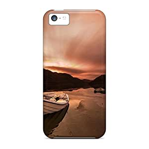 Hot ZmI20955HHcY Cases Covers Protector For Iphone 5c- Sunset Boat