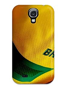 Hot Tpye Brasil Shirt Case Cover For Galaxy S4