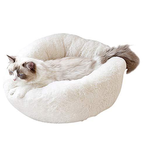 BVAGSS Weich Warm Langes Plüsch Haustier Bett Rund Sofa für Katzen Hund XH029