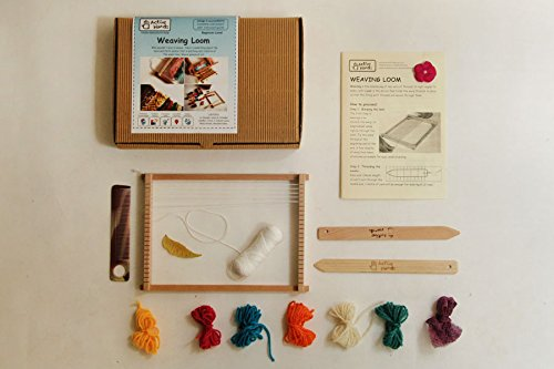 Active Hands Weaving Loom Kit Comes with Weaving Tools, Threads and a Wooden Table. A do it Yourself Guide Book , Age 4 +