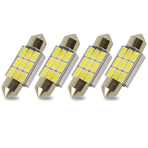 6000 Car - Kashine C5W LED Bulb 36mm Festoon Led Bulbs 5730 9 SMD 5050 Festoon LED Canbus Error Free 6000K White Car Interior License Plate Light Dome Map Lights Lamps Pack of 4