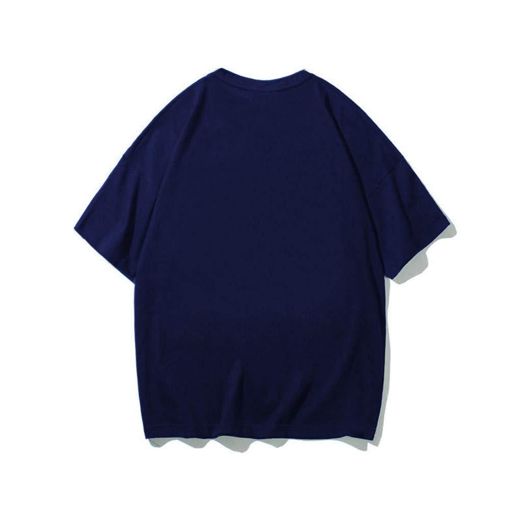 Bowake Women O-Neck Short Sleeve Letters Printed Christmas Funny Shirt Tops