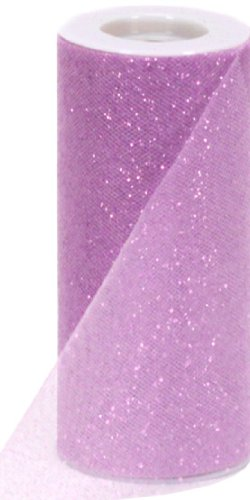 (Berwick Offray Lavender Sparkle Tulle by the Bolt, 6'' W, 25 Yards)