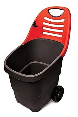 Negro y rojo carrito multifuncional Garden + incluye manos grandes de hojas de COLLECTOR - multifuncional de ...