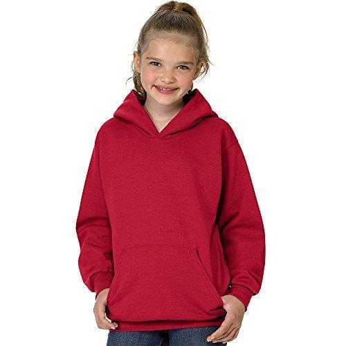 Hanes Youth 7.8 oz. ComfortBlend EcoSmart 50/50 Pullover Hood, Large, DEEP RED