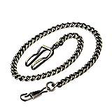 Clip Pocket Watch Chain - BOSHIYA Vintage Metal Alloy Pocket Vest Chain … (Green Bronze)