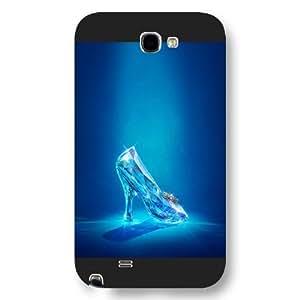 Customized Black Frosted Disney Princess Cinderella Samsung Galaxy Note 2 Case