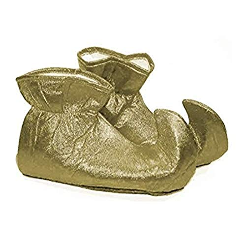 Forum Novelties Women's Deluxe Costume Cloth Elf Shoes, Gold, One -