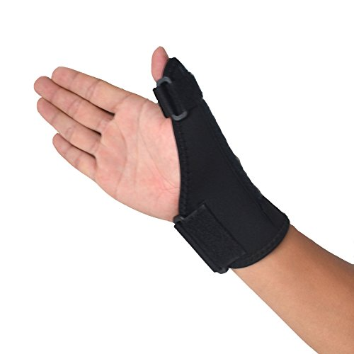Enshey Airflow Wrist & Thumb Support Sports Medicine Reversible Thumb Stabilizer Thumb Splint Thumb Spica Support Brace for Pain, Sprains, Strains, Arthritis, Carpal Tunnel & Trigger Thumb Immobilizer (Thumb Immobilizer)