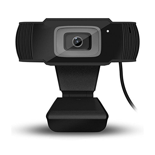 Pretty-jin HD Camera 1080P HD Webcam InTeching USB Widescreen Computer Camera with Noise Reduction Microphone for PC, Desktop Or Laptop 360 Degree Rotation Game Voice Camera by Pretty-jin