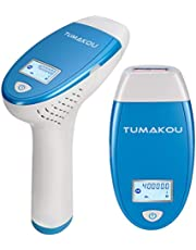 IPL Hair Removal System - TUMAKOU Painless IPL Hair Removal Device for Women & Man - FDA Approved - 400000 Flashes Professional Light Epilator - Permanent Results on Face and Body (TUMAKOU-T6 IPL Hair Removal System)