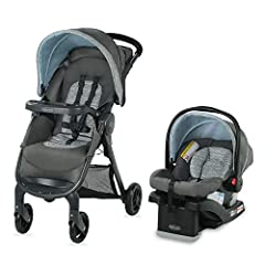 The Graco FastAction SE Travel System features a 25% smaller fold than the current FastAction stroller. The one-second, one-hand fold makes transporting the stroller at a moment's notice eaiser than ever, keeping your other hand free for ever...