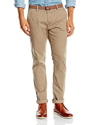 Beige with Belt Solid Denim Pantalones Caribou Skinny Tailor Tom 8489 Chino Hombre Beige zUq4C6qx