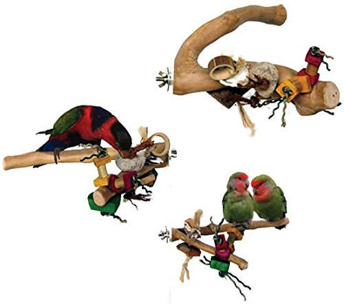 A&E CAGE COMPANY 001094 Java Wood Branch Bird Toy Assorted, Large