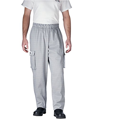 Houndstooth Cargo - Chefwear Men's Unisex Cargo Cotton Chef Pant, European Houndstooth, Medium