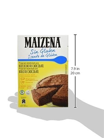 Maizena Bizcocho de Chocolate sin Gluten - Paquete de 7 x 330 g - Total: 2310 g