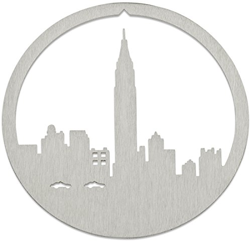 Empire State Building New York City Christmas Ornament by Valerie Atkisson, Brushed Steel