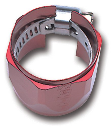 (Russell 620260 Red Anodized Aluminum -6AN Tube Seal Fuel Hose End)