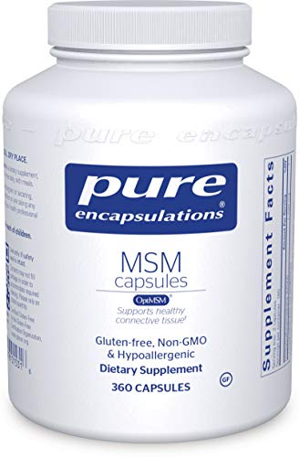 Pure Encapsulations – MSM Capsules – Hypoallergenic Supplement Supports Joint, Immune, and Respiratory Health* – 360 Capsules For Sale