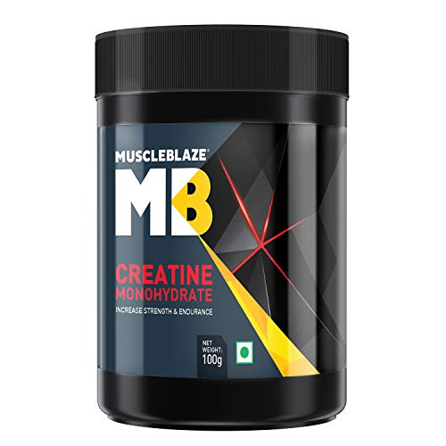 MuscleBlaze Creatine Monohydrate, India's Only Labdoor USA Certified Creatine (Unflavoured, 100 g / 0.22 lb, 33 Servings…