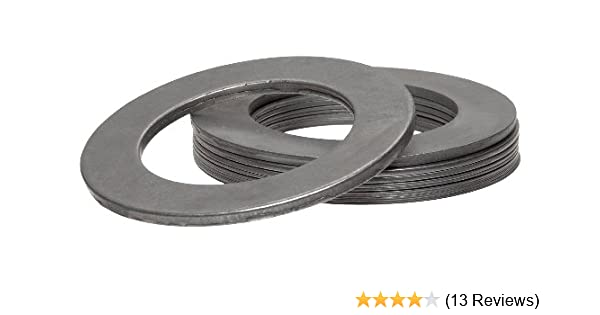 Precision Brand Products Inc. AISI 1008//AISI 1010 2-1//8 OD Matte Finish 1008//1010 Carbon Steel Notched Shim 0.020 Thickness 1-1//2 ID 2-1//8 OD Pack of 10 Pack of 10 0.020 Thickness Hard Temper 1-1//2 ID